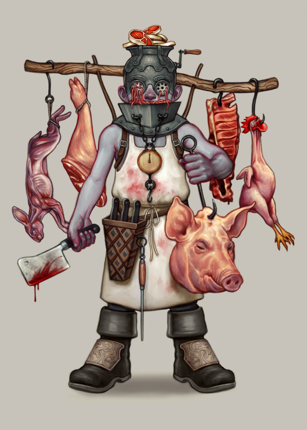 """The Butcher"" - Digital målning"